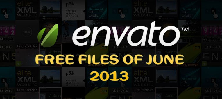 Envato Marketplace – Free Files of the June 2013
