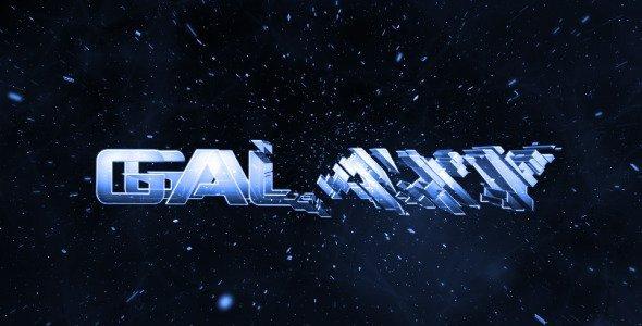 Galaxy Intro - Glass Logo Reveal