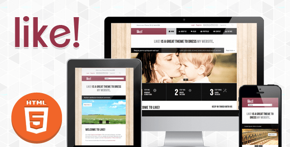 Like - Responsive Multipurposes HTML5-CSS3 Theme