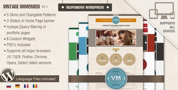 Vintage Immersed - Multipurpose WordPress Theme