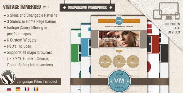 Vintage Immersed - Multipurpose WordPress Theme
