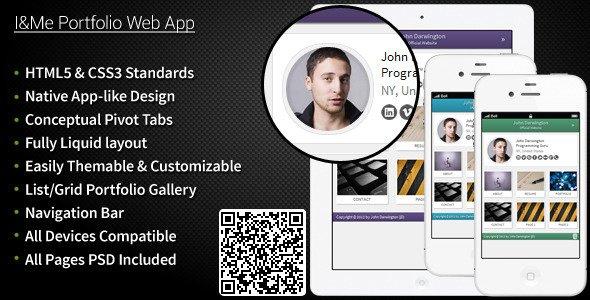 I and Me Portfolio Web App