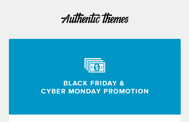 Authentic Themes giving a 38% discount