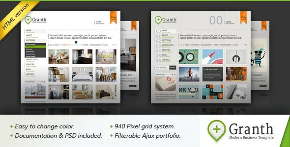 Granth - Modern Business HTML Template