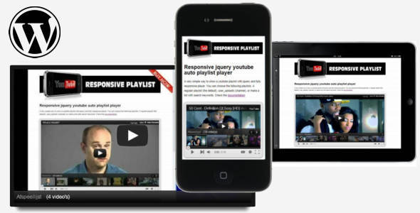 jQuery responsive youtube playlist for WordPress