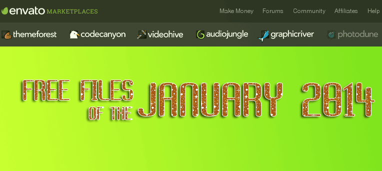 Free Premium files of the month ThemeForest January 2014