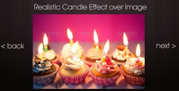 Realistic Candle Effect over Image