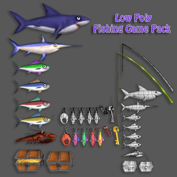 Low Poly Fishing Game Pack