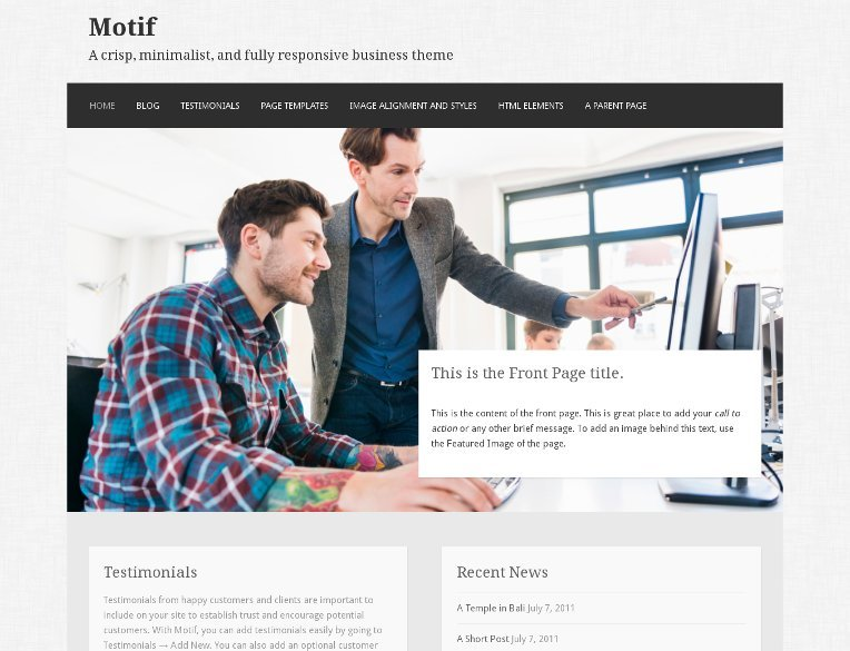 Motif is the perfect business theme