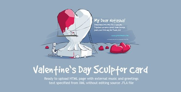 Valentine's Day Sculptor Card
