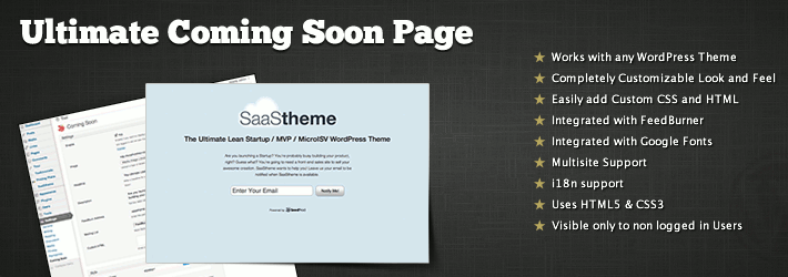 Maintenance Mode/Coming Soon page