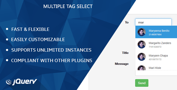 jQuery Multiple Tag Select