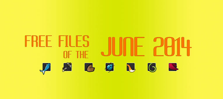 FREE File of the month - June 2014 on ThemeFores, CodeCanyon, VideoHive, GraphicRiver