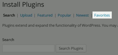 Install new plugins from favorite list