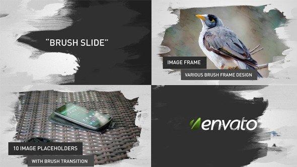 Brush Image-Video Slides