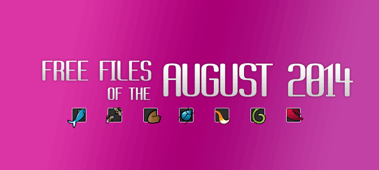 August's FREE file of the month on Themeforest, CodeCanyon & others