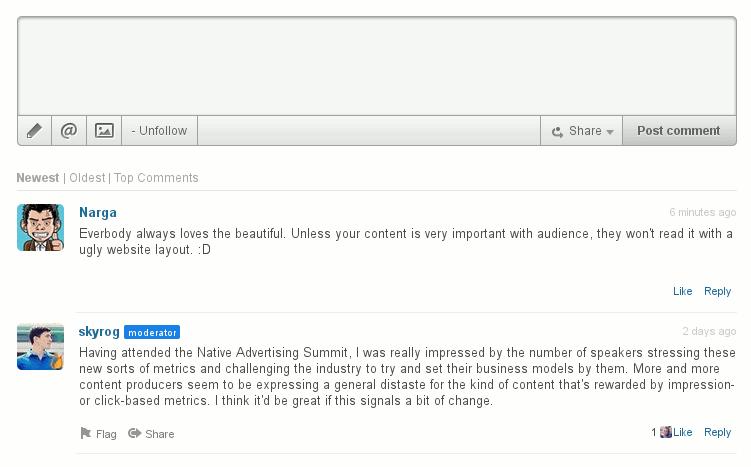 LiveFyre Comment System