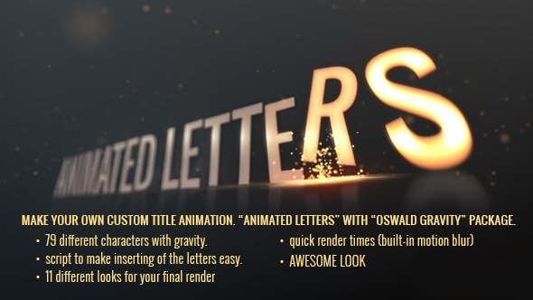 Animated Letters - Oswald Gravity Package