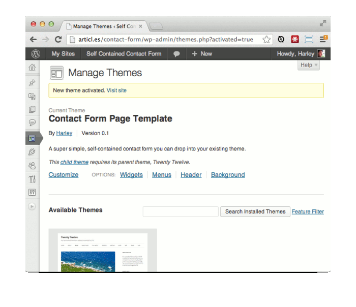 Why you should create a wordpress contact form without for Create a new page template wordpress