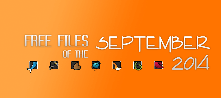 September's FREE File of the Month on Themeforest, CodeCanyon & others