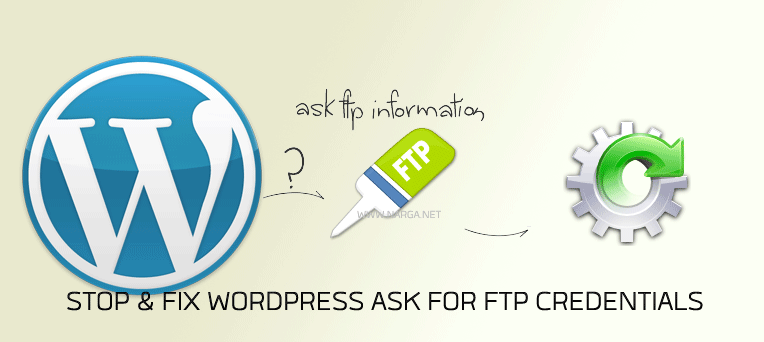 Stop & Fix WordPress Ask for FTP Credentials
