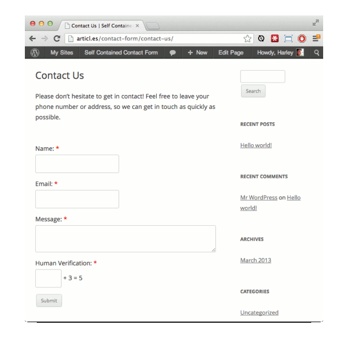 Why You Should Create a WordPress Contact Form Without Plugins and ...