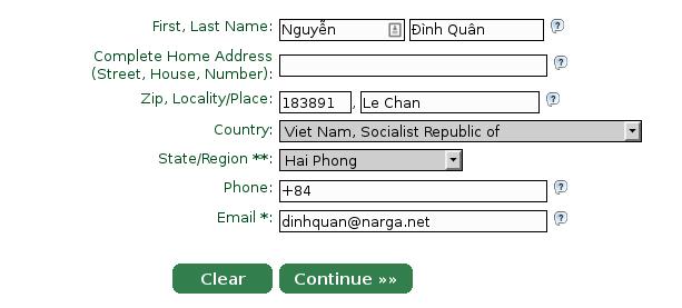 StartComSSL register form