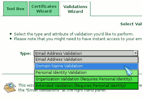 StartSSL Domain Validation