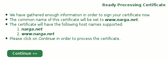 StartSSL confirm domain