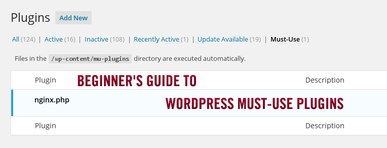 Beginner's Guide to WordPress Must-Use plugins