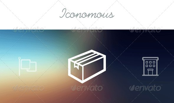 Iconomous - 100 Outlined Icons