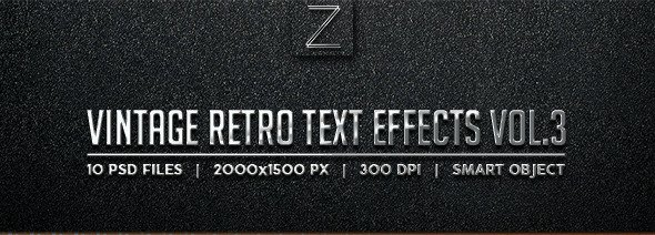 Vintage Text Effects Vol 3