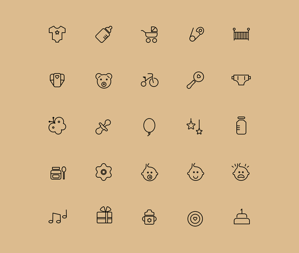 25 FREE Babies Icons