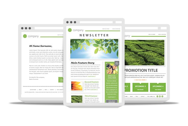 10 awesome responsive email templates for newsletters narga for Cool mailchimp templates