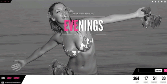 Evenings – Responsive Coming Soon Page