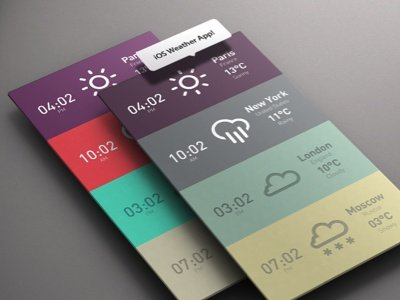 iOS Weather Flat Design