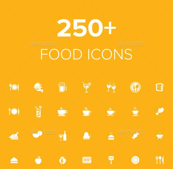 250+ food icons