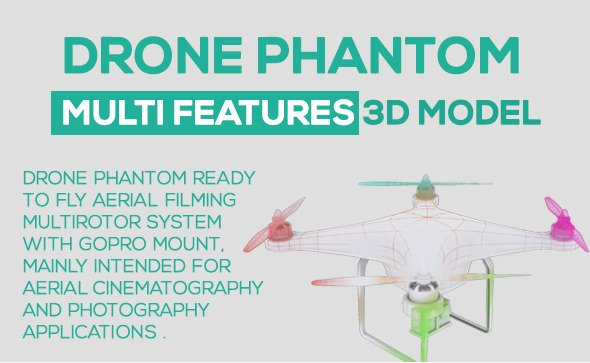 Drone Phantom 3D Model