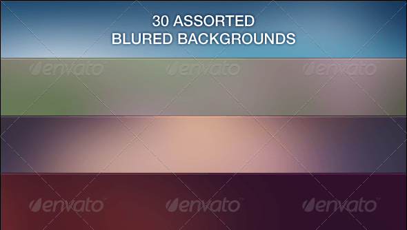30 Assorted Blur Backgrounds