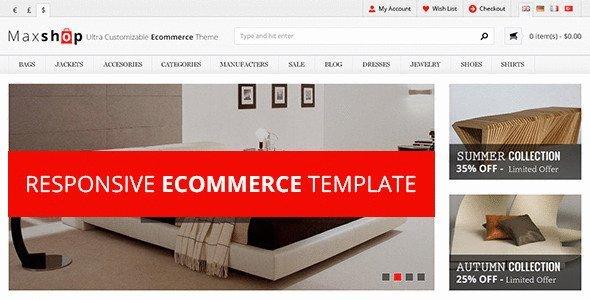MaxShop Responsive eCommerce Template