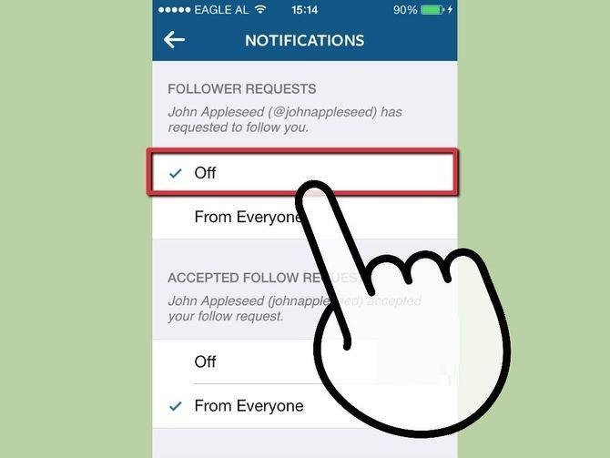 Turn off notification