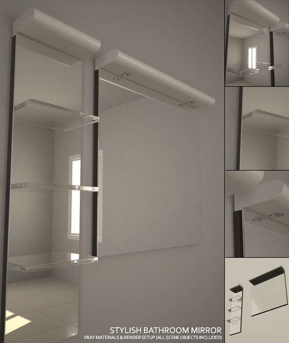 Stylish Bathroom Mirror Set