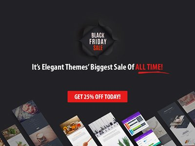 Elegant Themes offer 25% OFF