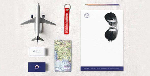 Airlines Company Identity Mock-up