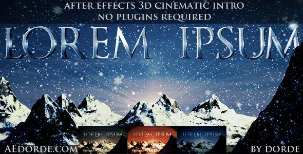 Cinematic Opener - Lorem Ipsum