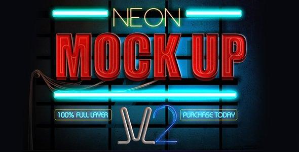 Neon Mockup Style v2