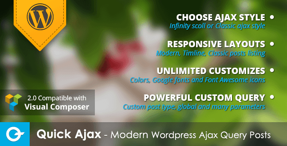 Quick Ajax - Modern WordPress Ajax Query Posts