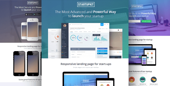 StartupKit Landing Page