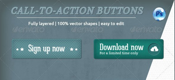 Call-To-Action Buttons Vol.II