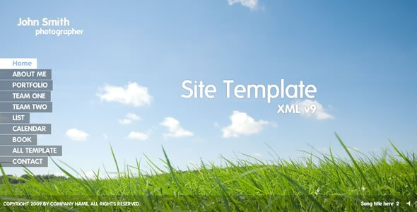 Flash Site Template XML v9